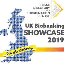 Logo for UKCRC TDCC UK Biobanking Showcase 2019