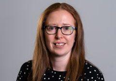 A headshot of Sarah McDonald